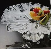 Walther Glass Made In Germany Cake Stand Original Box Vintage Glass Never Used