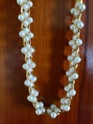 Vintage Napier Faux Pearl Choker Necklace Costume Jewelry