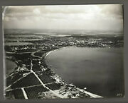 C. 1920s Aerial View Of Winter Haven Fl- Signed By Photographer R.e. Dahlgren