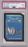 1973 Topps Wacky Packs No - Tips Psa 9 Mint Series 3 Packages - Centered