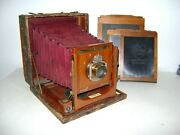 Vintage Queen And Company 8 X10 Large Format Camera, Unicum Len