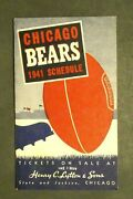 Chicago Bears 1941 Football Schedule