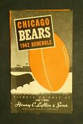 Chicago Bears 1942 Football Schedule