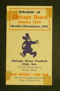 Chicago Bears 1944 Football Schedule World Champions 1943