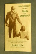 Chicago Bears And Cardinals 1946 Football Schedule