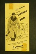 Chicago Bears And Cardinals 1947 Football Schedule