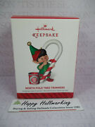Hallmark 2014 North Pole Tree Trimmers 2nd Candy Cane Ornament