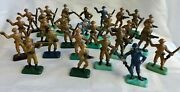 Early Canadian Toy Soldier Mixed Lot Of 27 Canada Military Vintage Soldiers Old