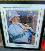 Pete Fountain Signed And 422/500 Lithograph Jazz Artist Clarinet Jus' Pete Baby