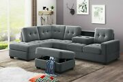 Orisfur. Sectional Sofa With Reversible Chaise Lounge, L-shaped Couch With Stora