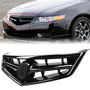 Front Grill Grille W/black Molding For 2006-2008 Acura Tsx Replace For Ac1200112