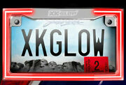 Xk Glow Xk034018-w Chrome Motorcycle Led License Plate Frame With Turn Signals