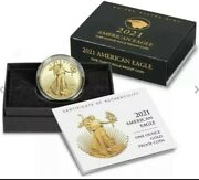 2021-w 1 Oz American Eagle One Ounce Gold Proof Coin 21ebnandnbsptype 2 - In Hand