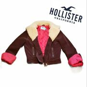 Hollister Brown Corduroy Sherpa Jacket Womens Size M Quilted Lining
