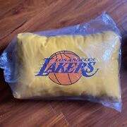 Los Angeles Lakers Logo Nba Basketball Bed Pillow Yellow Purple New 1 Piece