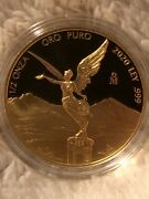 2020 Libertad – Mexico – 1/2 Oz Proof Gold Coin In Capsule Low Mintage 250
