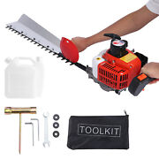 26cc 2-cycle Gas Hedge Trimmer Engine Grass Bush Cutter 33and039and039 Double Sided Blade