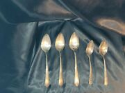 1881 Rogers Triple Spoon Lot Of 5 Silver Plated