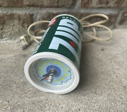 Rare Vintage 70s 7up Soda Can Tabletop Clock Peter Max Pop Art Style Works