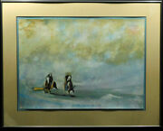 Earl Biss The Mist Between The Day And The Nighthand Signed Custom Framed