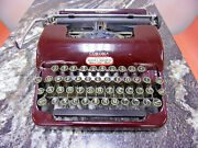 Smith And Corona Sterling Maroon Typewriter To Restore 2a 52393
