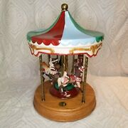 1980s Willits 214/9500 Rotating Musical Carousel Memories Americana Collection