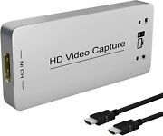 Hdmi Capture Dongle Adapter Card To Usb 3.0, Full Hd 1080p 60fps For Ps4 Xbox