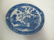 Vintage Japan Childs Tea Set Blue Willow Replacement 5 Round Tray
