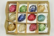 Lot Vintage Mercury Glass Sugared Round Pine Cones Christmas Ornaments Japan
