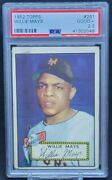 1952 Topps Willie Mays Rookie Card 261 Hall Of Fame Hof Rc Graded Psa 2.5