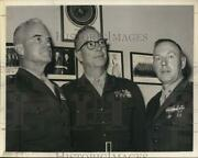 1963 Press Photo Colonel A.f. Lucas Poses With Other Marine Corps Officers