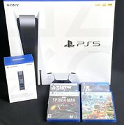 Ps5 Sony Playstation 5 Disc Edition Huge Bundle 📦 In Hand Ships Immediately 📦