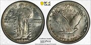 1921 Standing Liberty Quarter 25c Pcgs And Cac Au 58 About Uncirculated 111