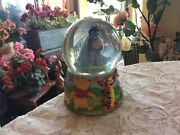 Disney Winnie The Pooh-tigger 6 Snow Globe Musical Eeyore With Butterfly
