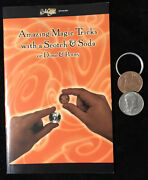 Real Coins Scotch And Soda 1977 Us Half And English Penny. Plus Book Metal Ring