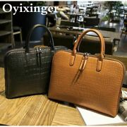 Leather Bag Handbag Women Office Business Formal Outdoors Party Briefcase Ladies
