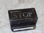 Vintage Brass/copper And Glass Reverse Painted Stop Taillight Marker