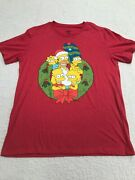 The Simpsons 20th Century Fox Christmas Family T-shirt Size Large