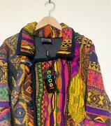 Vtg Coogi Wool Knitted Unused With Tag Sweater Jacket Size M Australia No.614