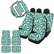 Zfrxign Suv Interior Accessories Cute Panda Car Seat Covers Full Set For Wome...