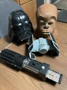 Micro Machines Star Wars Lot - Vintage Vehicles And Playsets - Heads Lightsaber