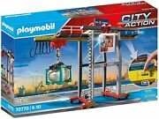 Playmobil City Action 70770 - Gantry Crane With Containers New - Free Shipping