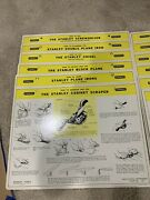 Amazing Vintage Stanley Tools Chart Nearly Complete Set In Original Package