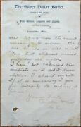 Lewistown Mt 1900 Letterhead Silver Dollar Buffet Wine And Cigars- Montana Mont