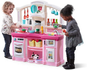 Step2 Fun With Friends Kitchen Large Plastic Play Kitchen With Realistic Light