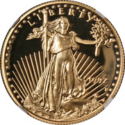 1992-p Gold American Eagle 25 Ngc Pf70 Ultra Cameo Brown Label - Stock