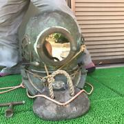 Toa Divers Diving Helmet Vintage Antique Interior Used From Japan