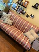 Vintage Antique Upholstered Sofa, Couch, Futon