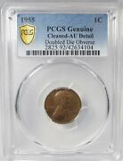 1955 Double Die Lincoln Penny Pcgs Au Details Certified Coin Ak275