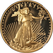1994-w Gold American Eagle 25 Ngc Pf70 Ultra Cameo Brown Label - Stock